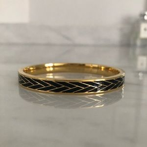 JCrew rare gold and black enamel bracelet